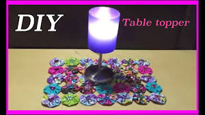 table topper project table decorations diy assorted fabrics 25
