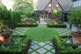 Backyard Tree Ideas Exterior Creative Green Perennials Garden With Various Tall