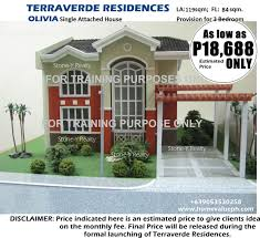 Carport Attached To House by Terraverde Residences House Along Governor U0027s Drive Bancal Carmona