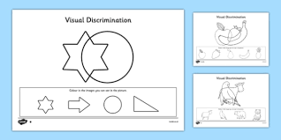 visual discrimination activity sheet pack find the overlapping