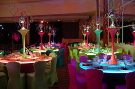 Neon Themed Decorations Planning Your Party Futuristic U0026 Fantastical Table Decorations