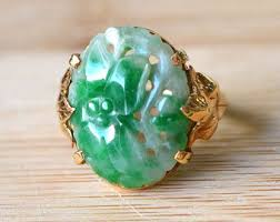 jade ring necklace images Vintage statement rings etsy jpg