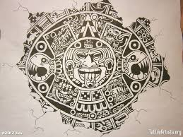 an aztec tattoo design photo 1 tattoos and line art