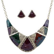 tibetan silver ethnic necklace images Yazilind vintage ethnic black tibetan silver irregular rhinestone jpg