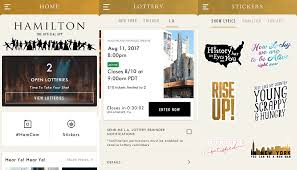 hamapp u0027 hamilton musical app lets you enter the show u0027s lottery
