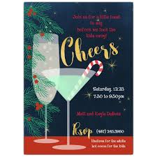 Cocktail Party Invite - holiday cheers cocktail party invitations paperstyle