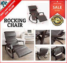 homcom pu leather rocking sofa chair recliner homcom pu leather rocking sofa chair recliner black ebay
