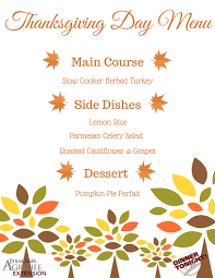thanksgiving day menus thanksgiving meal menu ideas dinner tonight