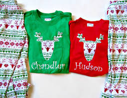 christmas pajamas children personalized christmas pjs sibling