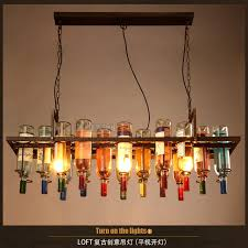 Edison Bulb Light Fixtures Retro Pendant Lights Wine Bottle Pendant Lamps Light With Edison