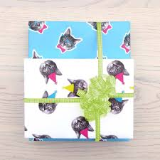 cat wrapping paper birthday cat wrapping paper oh my cat shop