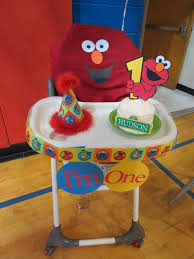 sesame decorations 1st birthday sesame high chair decor the back was a pillow