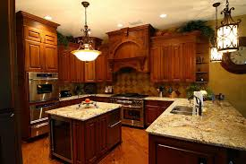 Italian Themed Kitchen Ideas Small Kitchen Interior With White Polished Wooden Kitchen Cabinet