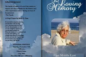 make your own funeral program funeral program using funeral template unlimited content