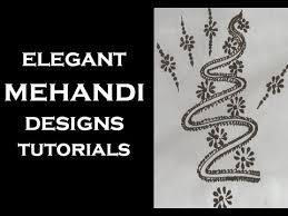 snake mehndi design for hands snake pattern henna tattoo youtube