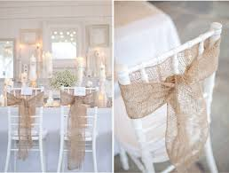 burlap wedding decorations wedding chair decorations something borrowed wedding diy
