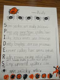 Poems About Halloween Patties Classroom Spider Art And Spider Acrostic Poems