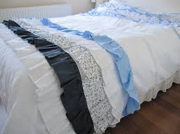 bed scarf shabby chic cottage beach sstyle bed runner navy