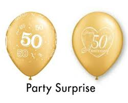 50th birthday balloons gold 50th anniversary balloons best prices by partysurprise