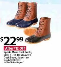 womens boots in s sizes bjs wholesale black friday sporto s duck boots sizes 8 12