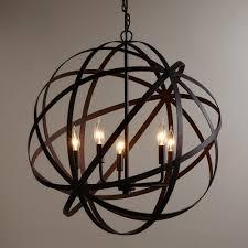 Chandelier Accessories 12 Best Ideas Of Metal Sphere Chandelier