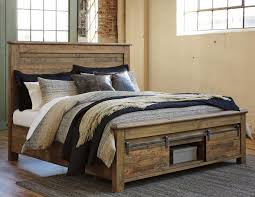 King Storage Bed Frame Signature Design By Ashley Sommerford King Panel Storage Bed With