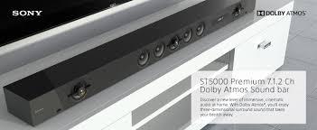 amazon com sony ht st5000 7 1 2ch 800w dolby atmos sound bar