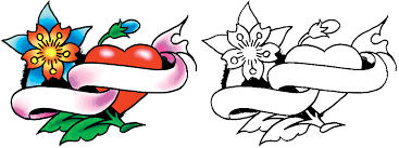 heart with banner tattoo designs free download clip art free