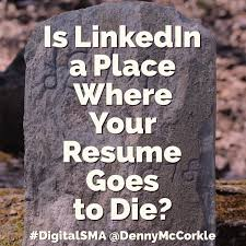 Photo On A Resume Is Linkedin A Place Where Your Resume Goes To Die Digital Self