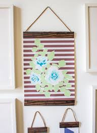 diy project wood and leather hanging frames