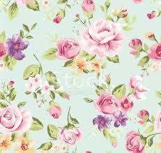 seamless wallpaper vintage rose pattern background stock vector