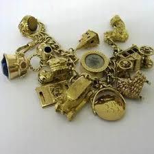 charm bracelet gold vintage images Gold bracelet 14k bracelet charm gold vintage jpg