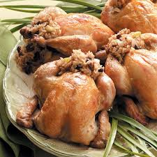 cornish hens stuffed with rice recipe taste of home