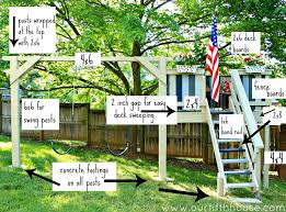 diy playground diy swing set and playhouse plans kids