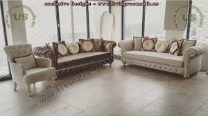 Manchester Chesterfield Sofa Set Exclusive Living Room Design - Chesterfield sofa and chairs