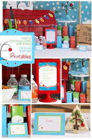 christmas themed birthday party invitations