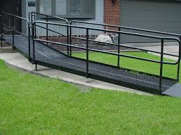 Wheelchair Ramp Handrails Galvanized Steel Wheelchair Ramps Ada Compliant Handiramp