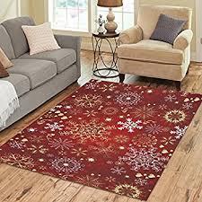 amazon com christmas rug holiday décor santa on sled area rug