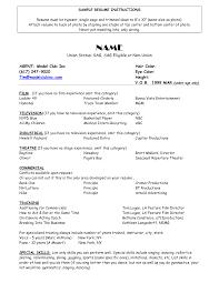 Model Resume Templates Acting Modeling Resume Sle Resume Exles Modeling Resume