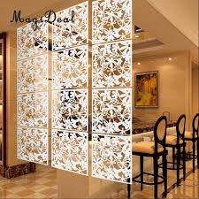 Curtain Room Divider Megideal 4x Butterfly Flower Hanging Screen Curtain Room Divider
