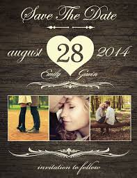 rustic save the date magnets save the date magnet card or postcard rustic heart magnets