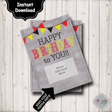 gift cards for women instant birthday gift card printable bday003b birthday