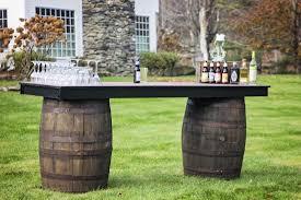 whiskey barrel bar table mahaiwe tent whiskey barrel bar tables bars tables chairs