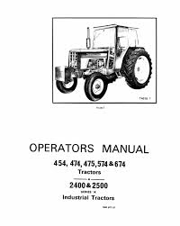 international 454 474 475 574 and 674 tractors and 2400 2500