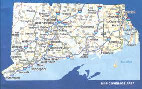 Connecticut State Map by Connecticut And Rhode Island Laminated Wall Map Jimapco