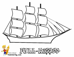 full rigged tall ship coloring sheet free sharp ships boats