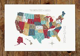map of us states poster 11 cool posters of the u s printaholic