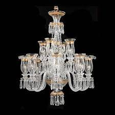 Baccarat Chandelier Silver Chain Glass Gold Color European Baccarat Chandelier