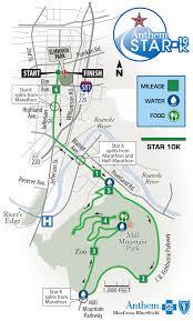Road America Track Map by Anthem Star 10k Foot Levelers Blue Ridge Marathon