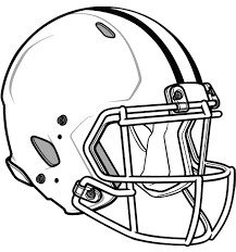 blank football helmet coloring page getcoloringpages com